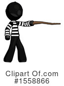 Black Design Mascot Clipart #1558866 by Leo Blanchette