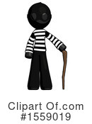 Black Design Mascot Clipart #1559019 by Leo Blanchette