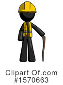 Black Design Mascot Clipart #1570663 by Leo Blanchette