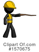 Black Design Mascot Clipart #1570675 by Leo Blanchette