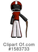 Black Design Mascot Clipart #1583733 by Leo Blanchette