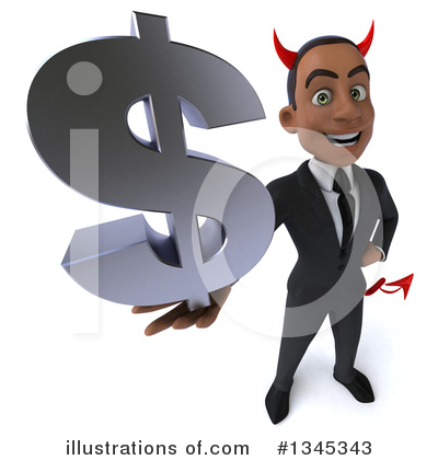 Young Black Businessman Clipart #1345343 by Julos