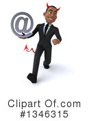 Black Devil Businessman Clipart #1346315 by Julos
