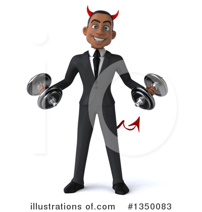 Young Black Businessman Clipart #1350083 by Julos