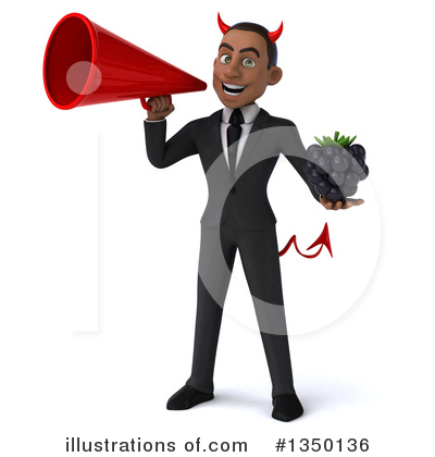 Black Devil Businessman Clipart #1350136 by Julos