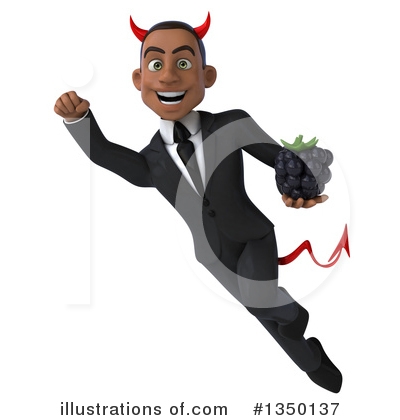 Black Devil Businessman Clipart #1350137 by Julos