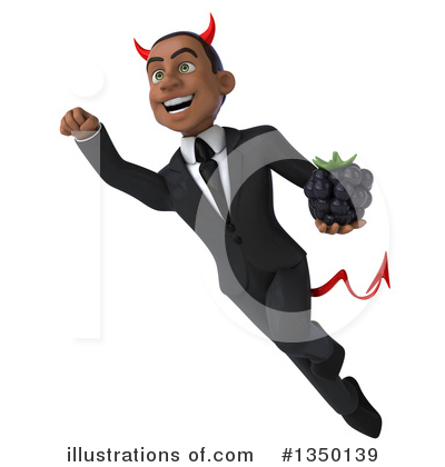 Black Devil Businessman Clipart #1350139 by Julos