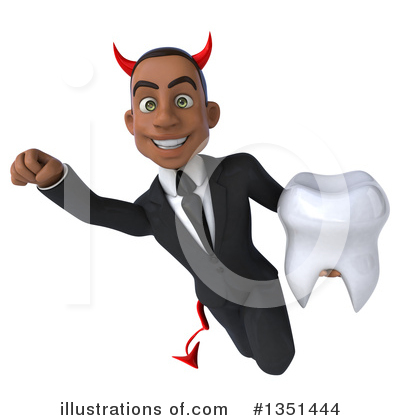 Black Devil Businessman Clipart #1351444 by Julos