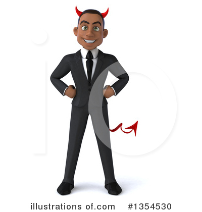 Black Businessman Clipart #1354530 by Julos