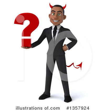 Black Devil Businessman Clipart #1357924 by Julos