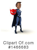 Black Female Dark Blue Super Hero Clipart #1466683 by Julos