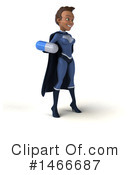 Black Female Dark Blue Super Hero Clipart #1466687 by Julos