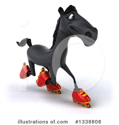 Black Horse Clipart #1338808 by Julos