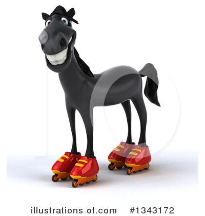 Black Horse Clipart #1343172 by Julos