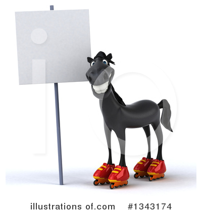 Black Horse Clipart #1343174 by Julos