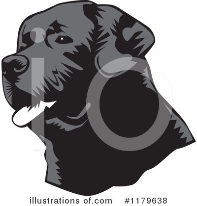Labrador Clipart #1179638 by David Rey