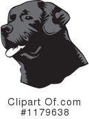 Royalty-Free (RF) Black Lab Clipart Illustration #1179638