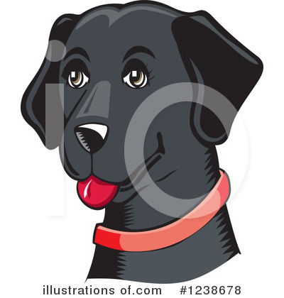Labrador Clipart #1238678 by David Rey