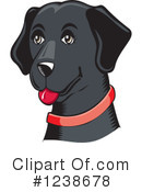 Black Lab Clipart #1238678 by David Rey