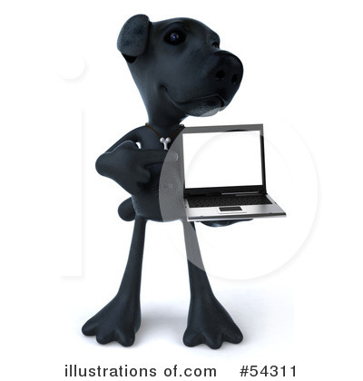 Black Lab Clipart #54311 by Julos