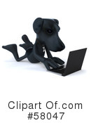 Black Lab Clipart #58047 by Julos