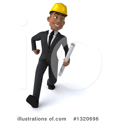 Black Male Architect Clipart #1320696 by Julos