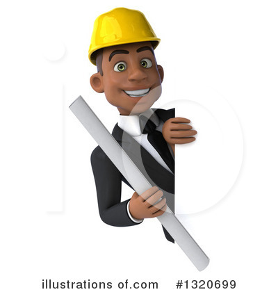 Black Male Architect Clipart #1320699 by Julos