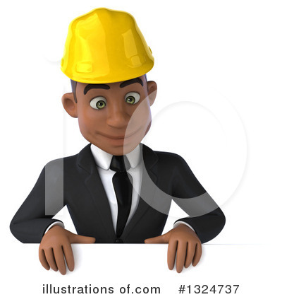 Black Male Architect Clipart #1324737 by Julos