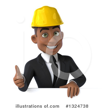 Black Male Architect Clipart #1324738 by Julos