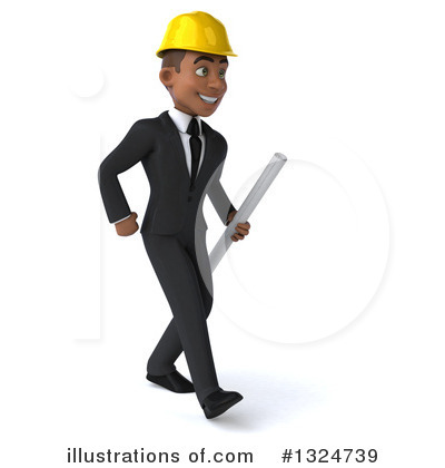 Black Male Architect Clipart #1324739 by Julos