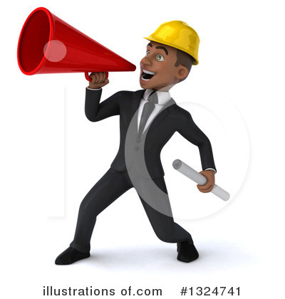 Black Male Architect Clipart #1324741 by Julos