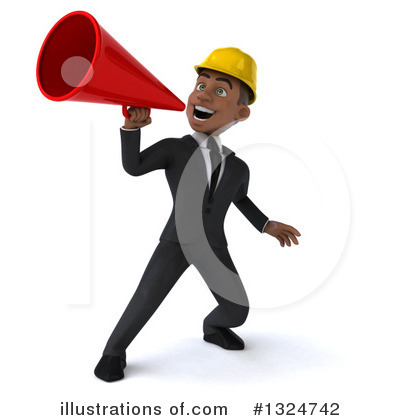 Black Male Architect Clipart #1324742 by Julos