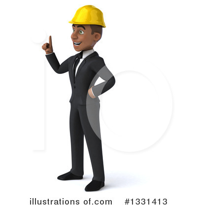 Black Male Architect Clipart #1331413 by Julos