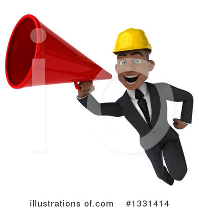 Black Male Architect Clipart #1331414 by Julos