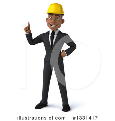 Black Male Architect Clipart #1331417 by Julos