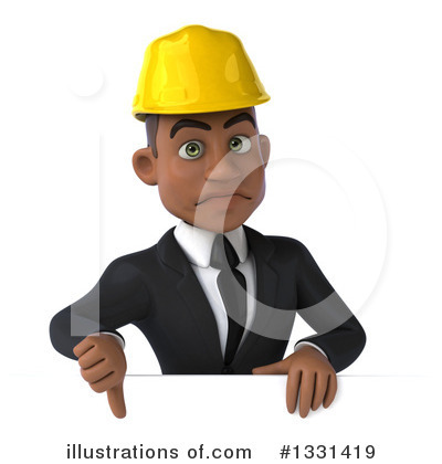 Black Male Architect Clipart #1331419 by Julos