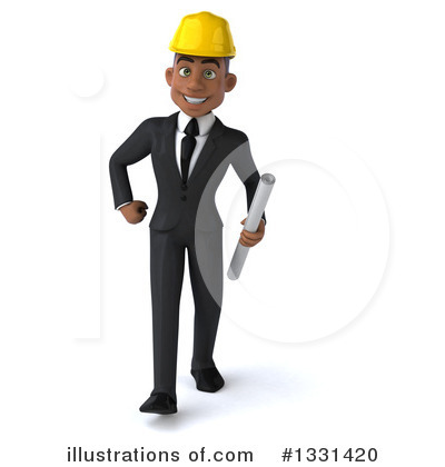 Black Male Architect Clipart #1331420 by Julos