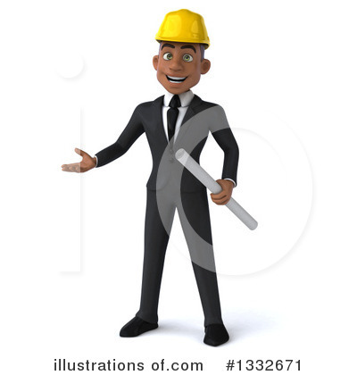 Black Male Architect Clipart #1332671 by Julos