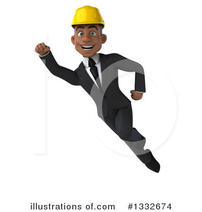 Black Male Architect Clipart #1332674 by Julos