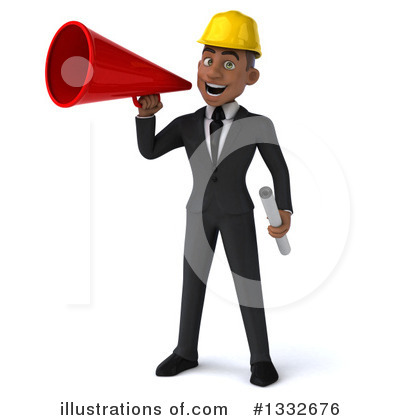 Black Male Architect Clipart #1332676 by Julos