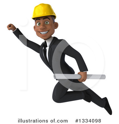 Black Male Architect Clipart #1334098 by Julos