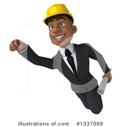 Black Male Architect Clipart #1337068 by Julos