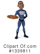Black Male Dark Blue Super Hero Clipart #1339811 by Julos