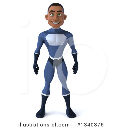 Blue Super Hero Clipart #1340376 by Julos
