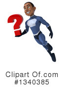 Black Male Dark Blue Super Hero Clipart #1340385 by Julos