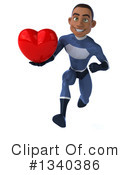 Black Male Dark Blue Super Hero Clipart #1340386 by Julos