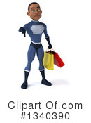 Black Male Dark Blue Super Hero Clipart #1340390 by Julos