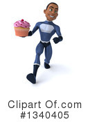 Black Male Dark Blue Super Hero Clipart #1340405 by Julos