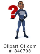 Black Male Dark Blue Super Hero Clipart #1340708 by Julos