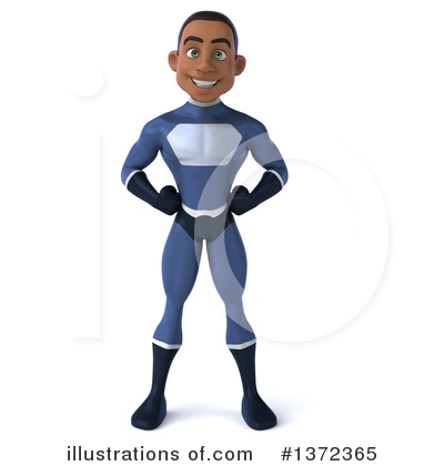 Blue Super Hero Clipart #1372365 by Julos